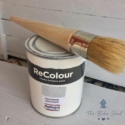 £12.95 • Buy 750ml CHALK PALE PEWTER GREY Furniture PAINT Chalky Matt Smooth Great Finish