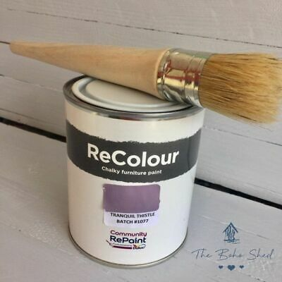 £12.95 • Buy 750ml CHALK TRANQUIL THISTLE PINK Furniture PAINT Chalky Matt Smooth GreatFinish