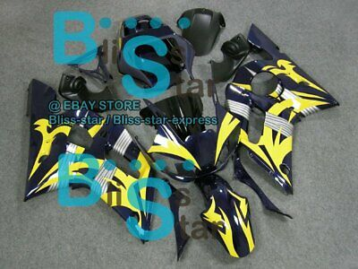 $495 • Buy Yellow INJECTION Fairing Fit Yamaha YZFR6 YZF-R6 99 00 01 1998-2002 48 A3