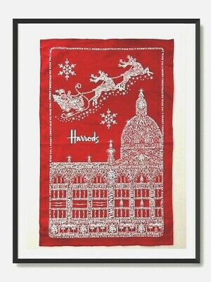 £6.50 • Buy Harrods Red Christmas Tea Towel  New .Discontinued