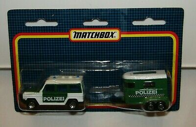 $ CDN77.73 • Buy Matchbox Superfast TP-117 Mercedes G Wagon & Pony Trailer Green  POLIZEI MIB