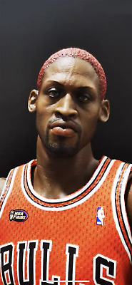 $49.99 • Buy ENTERBAY 1/6 NBA Dennis Rodman Head Sculpt For 12  EB Action Figure Body