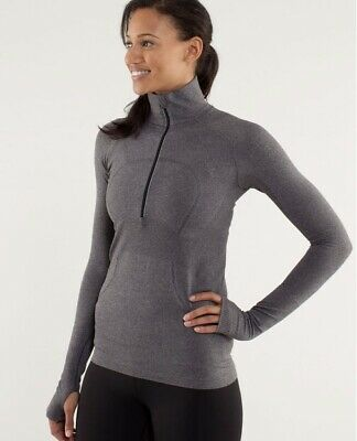 $ CDN16.87 • Buy Lululemon Run Swiftly Tech 1/2 Zip Long Sleeve.  Gray. Size 8
