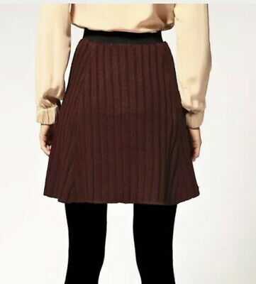 £11.50 • Buy Chunky Knitted Knit Thick ASOS Stretchy Skirt Size 10 Burgundy Dark Red