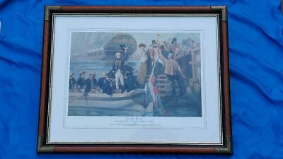£39.98 • Buy Framed Print  By Fred Roe  Good Bye My Lads -Admiral Nelson Sail  On Victory