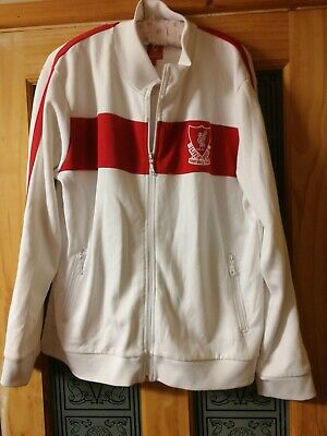 £29.99 • Buy Liverpool Football Club Track Suit Top Training Anfield Size Large White And Red