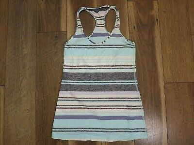 $ CDN11.24 • Buy Lululemon Women's Blue/White/Black Striped Cool Racerback Tank Top Sz 6 - 8 ?
