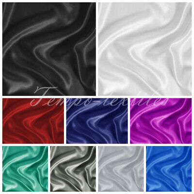 AU44.95 • Buy Luxury Soft Silky Satin Fitted Flat Pillowcases Bedding Sheet Set