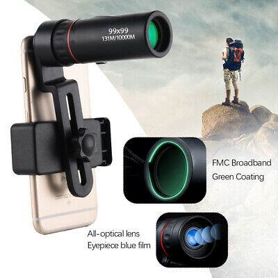 £6.99 • Buy Pocket HD Monocular Low Light Night Vision Telescope Mobile Camera With Clip