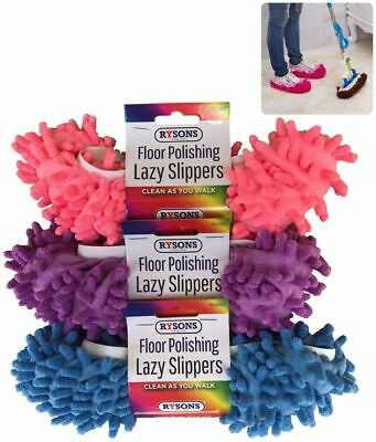 £3.99 • Buy Lazy Mop Slippers Floor Polish Cleaning One Size Super Absorbent Washable Pair