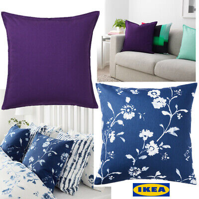 £3.99 • Buy IKEA Cushion Cover 50x50cm 100% Cotton New Plain/ Floral Square Sofa Bed Covers