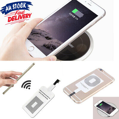 AU5.99 • Buy IPhone 5s 6 6s 7 Plus Qi Wireless Charging Mat Charger Module Receiver Adapter