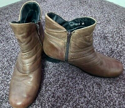 PAVERS, Ladies Brown Ankle Boots, Size 5 • 14.99£
