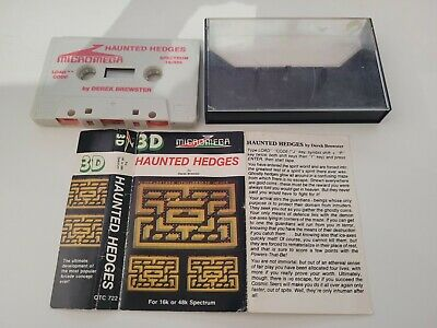£1.99 • Buy Haunted Hedges Sinclair ZX Spectrum Game By Micromega