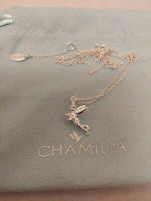 £55 • Buy Genuine Chamilia 925 Sterling Silver Disney Tinkerbell Necklace New