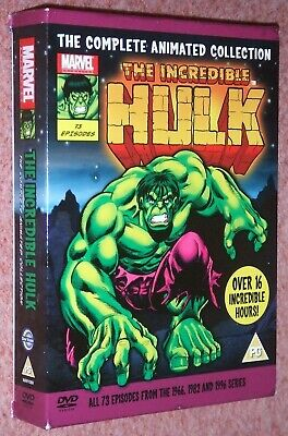 £99.75 • Buy The Incredible Hulk Complete 1966,1982 & 1996 Marvel Animated Collection 7 DVD