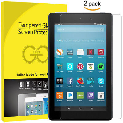 £5.49 • Buy For AMAZON KINDLE FIRE HD 10.1  Tempered Glass Screen Protector 100% Genuine