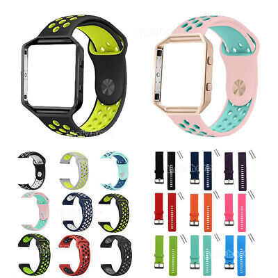 $ CDN9.66 • Buy For Fitbit Blaze Soft Silicone Sport Replacement Strap Watch Band Bracelet E9