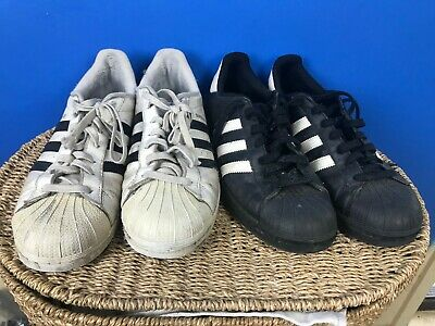 $ CDN24.17 • Buy 2x Adidas Superstar Shoes Lot Black/white Size 12 Sneakers