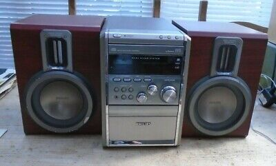 £30 • Buy Philips MCM8/25 Silver Micro System CD Radio Tape Hi-Fi Aux MP3 & Speakers