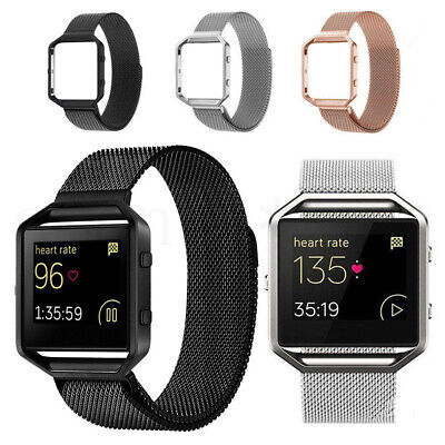 $ CDN13.29 • Buy For Fitbit Blaze Watch Replacement Milanese Loop Strap Wrist Band & Frame E9