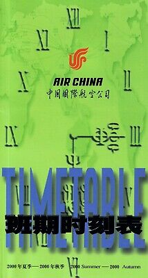 $3.99 • Buy Air China Timetable  Summer 2000 =