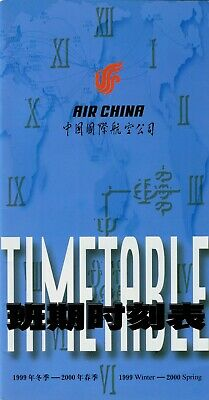 $3.99 • Buy Air China Timetable  Winter 1999-2000 =
