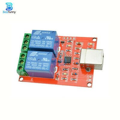 £3.69 • Buy 2 Channel USB Relay DC 5V Programmable Computer Control Shield Interface
