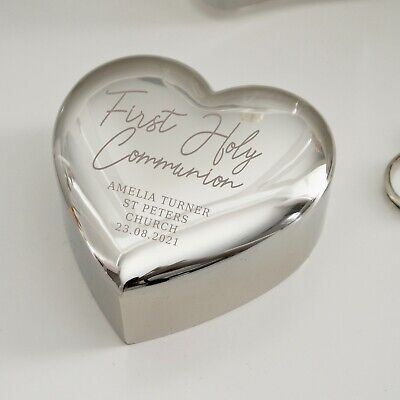 £12.99 • Buy Personalised First Holy Communion Heart Trinket Box - 1st Holy Communion Gift