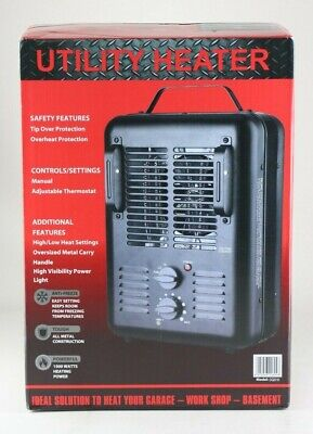 $39.99 • Buy Milkhouse Style Electric Space Heater 1500W Indoor Use Heating Black