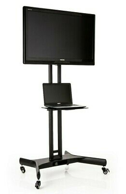 £99.95 • Buy Mobile Trolley Display Cart, Tall TV Stand With Bracket On Wheels DS005