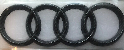 £14.99 • Buy Carbon Fibre Audi Front Grille Badge Rings Logo 273mm * 94mm High Quality