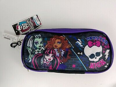 £9.17 • Buy Monster High Fangtastic Pencil Case Holder Bag Pens School Carrying Pouch Black