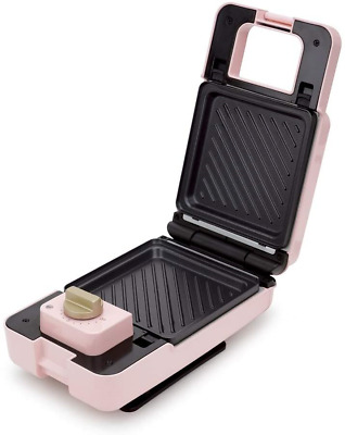 £19.37 • Buy EcHome 2 In 1 Sandwich And Waffle Maker With Detachable Plates Pink CE Certified