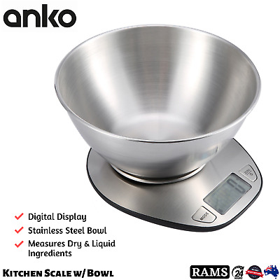 AU24.87 • Buy Anko Kitchen Digital Scale 5kg Stainless Steel Balance Food Weight Weighing