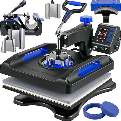 AU374.38 • Buy VEVOR Heat Press Machine Sublimation Machine 15 X 15 Inch 8 In 1 Blue Heat Press