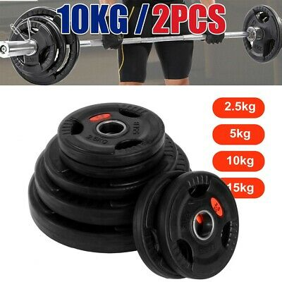 AU45.99 • Buy 2.5KG - 20KG Home Gym Weight Plates Barbell Dumbbell Fitness Weightlifting