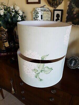 £49.99 • Buy A Pair Of Large Laura Ashley Heligan Lampshades In Eau De Nil