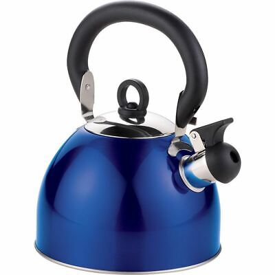 £9.40 • Buy Blue Stainless Steel Whistling Kettle 3L Stove Top Hob Kitchenware Tea Camping