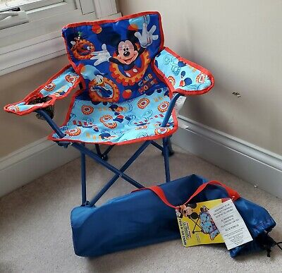 £32.59 • Buy Disney Mickey Mouse Clubhouse Fold N' Go Portable Chair Cup Holder New W/ Tags