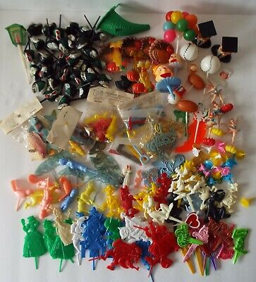 £25.50 • Buy Cake Toppers Vintage Lot Of 175 Candle Holders, Picks, Decor - USA Hong Kong