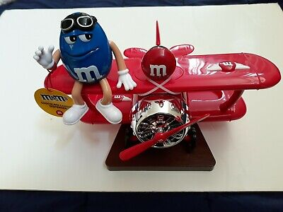 $39.99 • Buy M&M's World Red Airplane Candy Dispenser With Blue Character New With Tag
