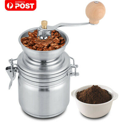 AU21.39 • Buy Stainless Steel Coffee Bean Manual Grinder Home Spice Grinding Mill Hand Tool AU