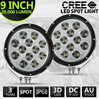 AU99.99 • Buy Pair 9  Inch Offroad LED Spot Lights Fog Driving Chrome For Jeep Truck 4WD 4X4