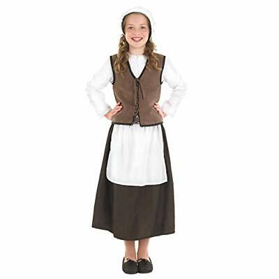 £14.12 • Buy Kids Tudor Kitchen Girl Costume Childrens Historical Victorians Outfit - Medium