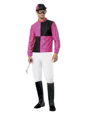 £21.99 • Buy Mens Jockey Costume Horse Riding Rider Grand National Fancy Dress Party Outfit L
