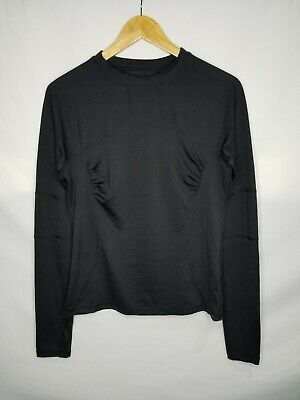 $ CDN45 • Buy Lululemon Athletica Women's Active Black Long Sleeve Shirt Size 12 XL Gym Yoga