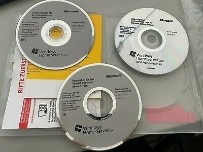 $ CDN95.43 • Buy Microsoft Windows Home Server 2011 64B German 1pk - 10 Client - 3 CD/DVD + KEY