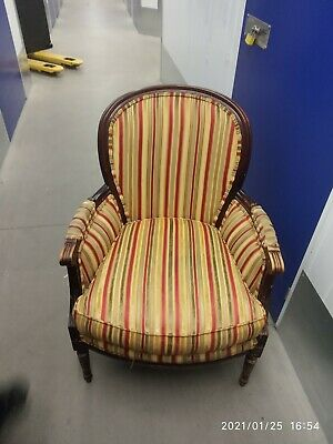 £145 • Buy French Louis Style Gilded Antique Vintage Occasional Chair Armchair Wooden