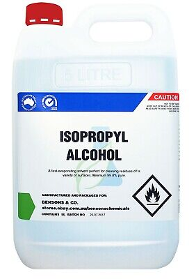 AU46.95 • Buy Min. 99.8% Pure Isopropyl Alcohol - 5 Litre - Isopropanol IPA Rubbing Alcohol 5L
